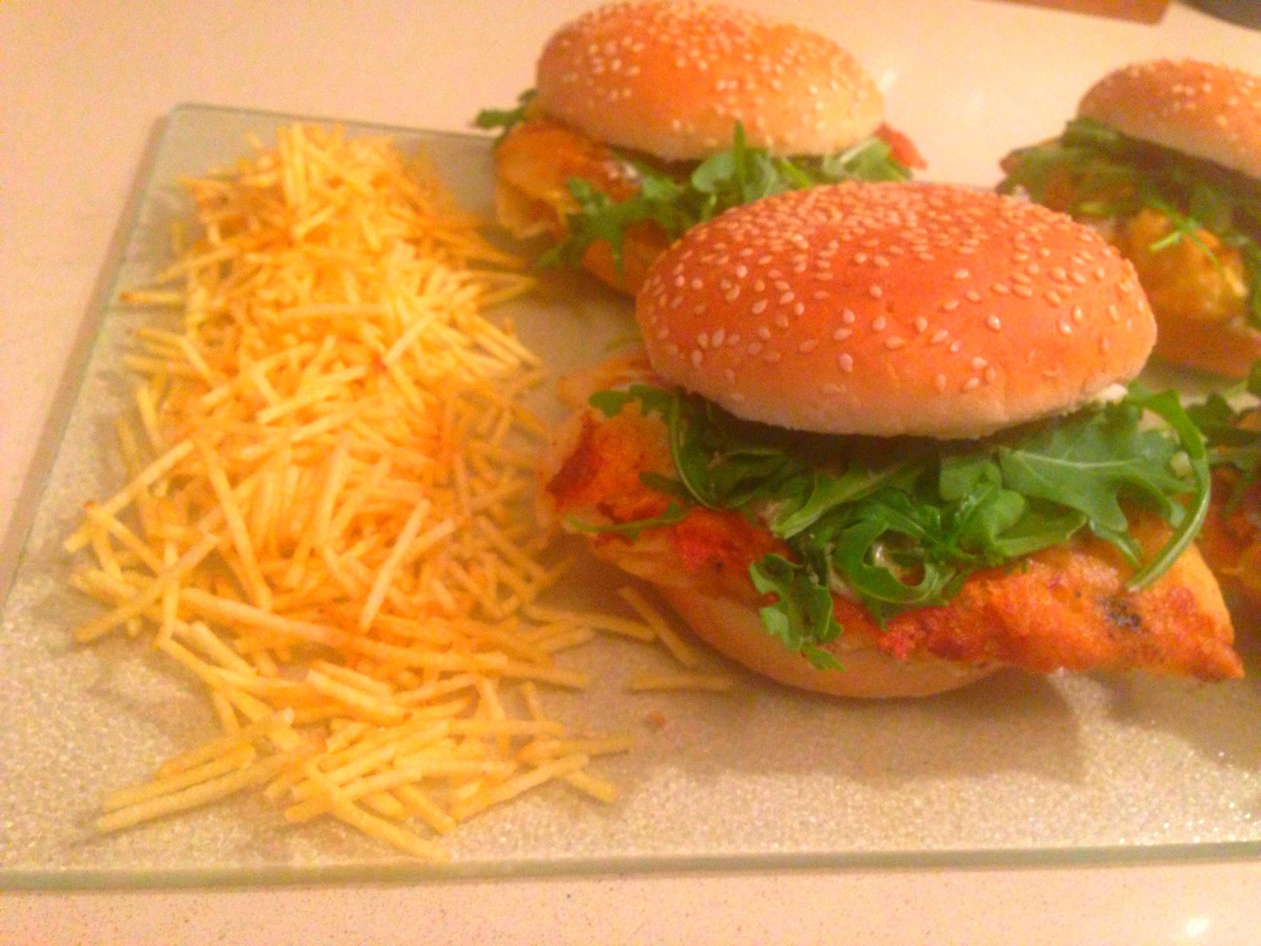 Crispy fish sandwich with homemade tartar sauce chez for How to make tartar sauce for fish fillet